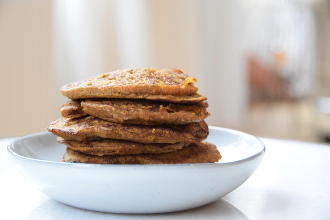 Pompoen pannenkoekjes van bakbananenmeel