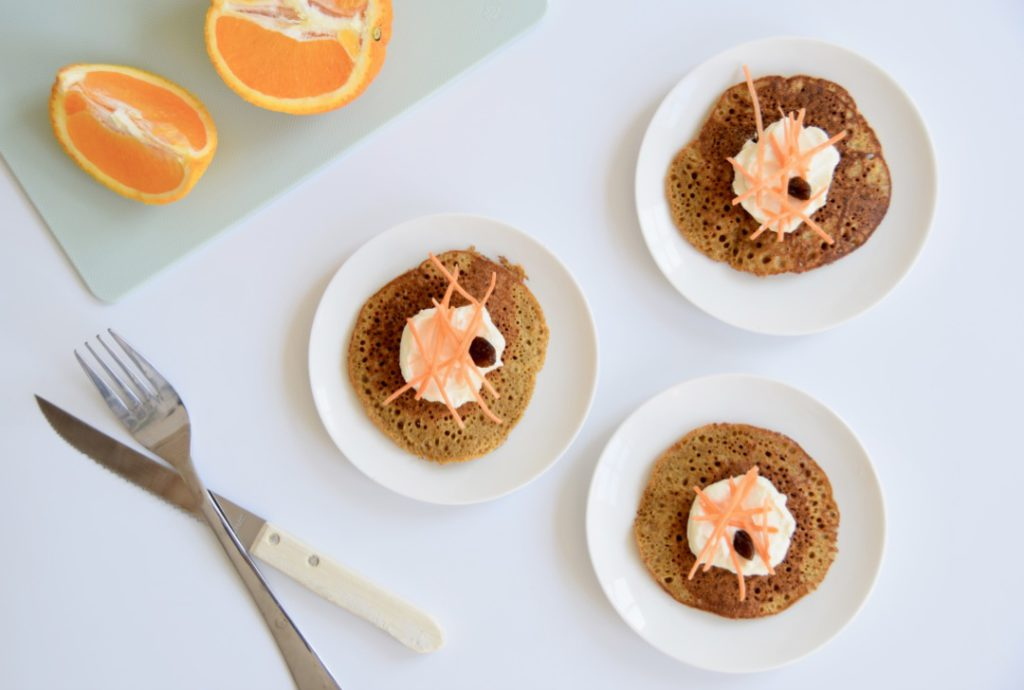 Glutenvrije carrot cake pancakes