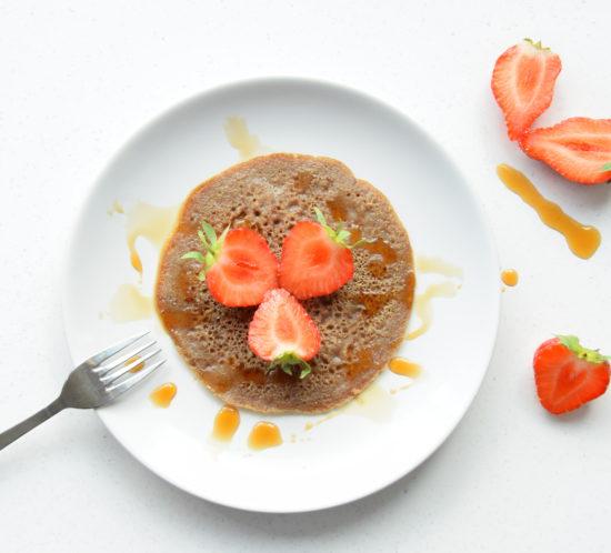 vegan pannenkoekjes met lijnzaad
