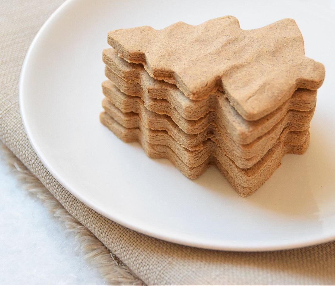 Kerst biscuitjes van bakbananenmeel