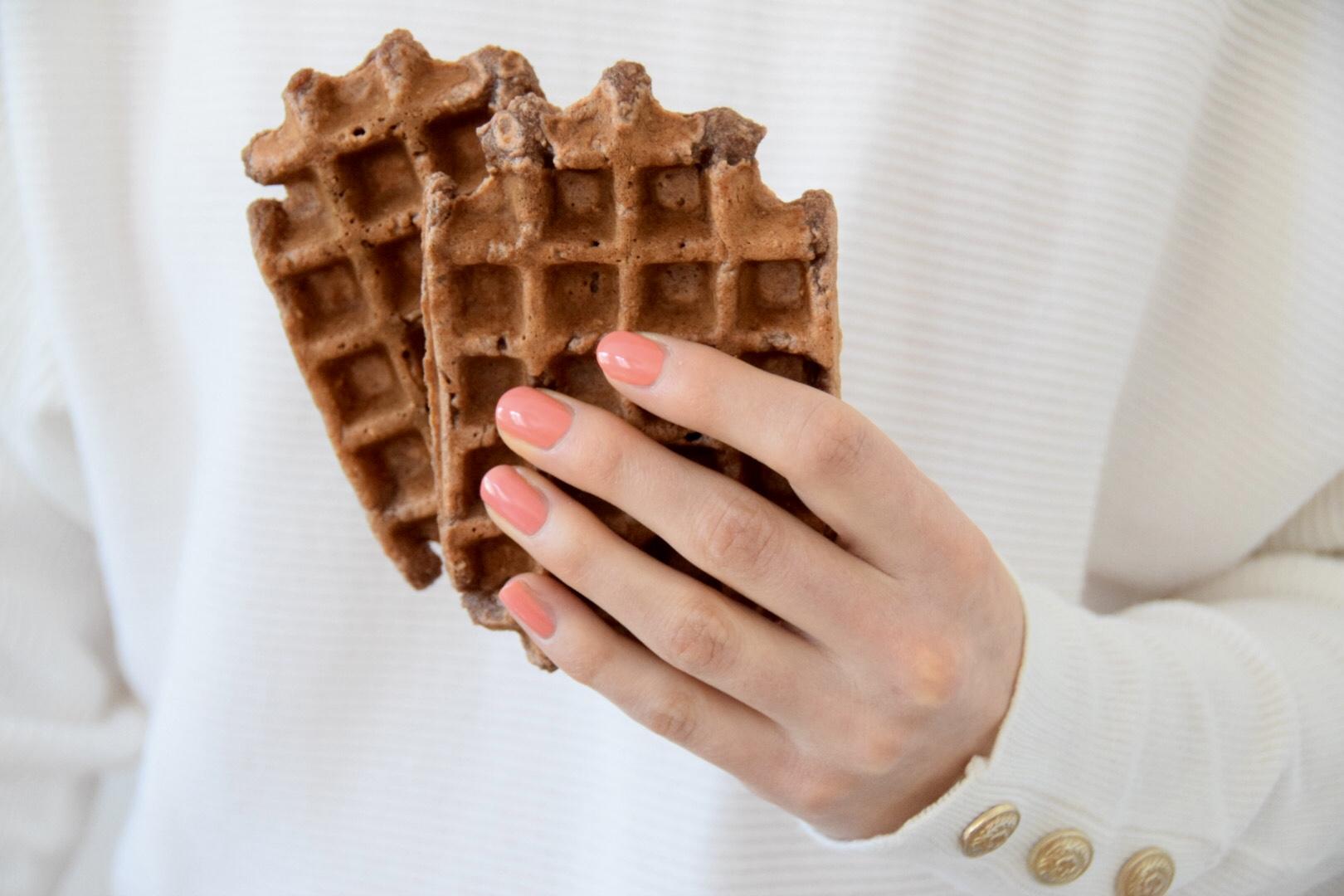 Glutenvrij en vegan peer-anijs wafels