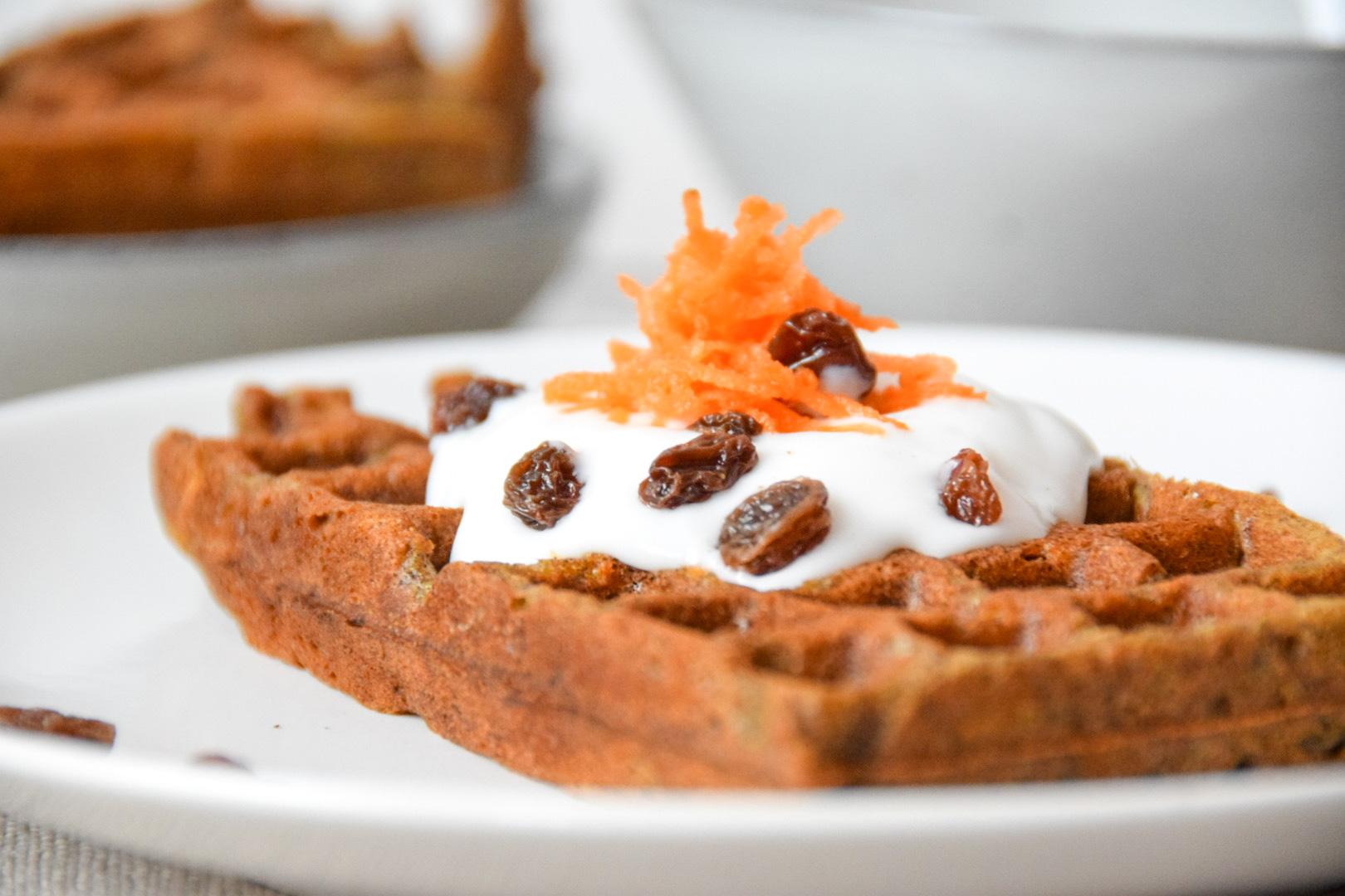 Glutenvrije carrot cake wafels