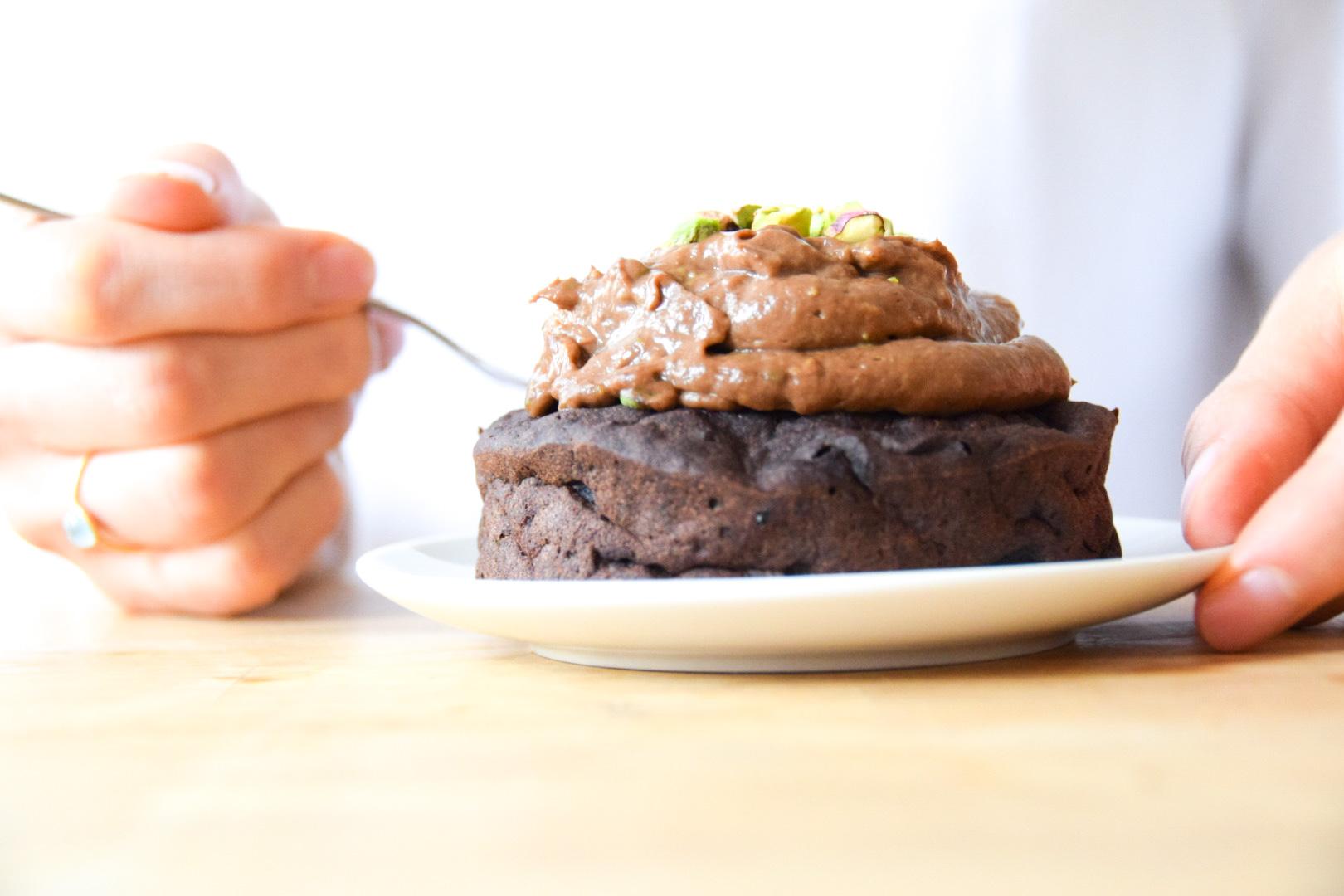 Glutenvrije chocolade ontbijttaartjes