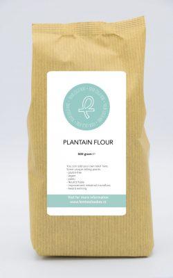 Plantain flour under white label