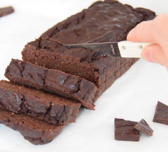 Vegan en glutenvrije chocolade bananenbrood