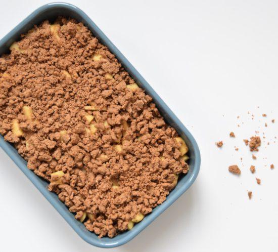 Glutenvrije speculaas crumble van bakbananenmeel