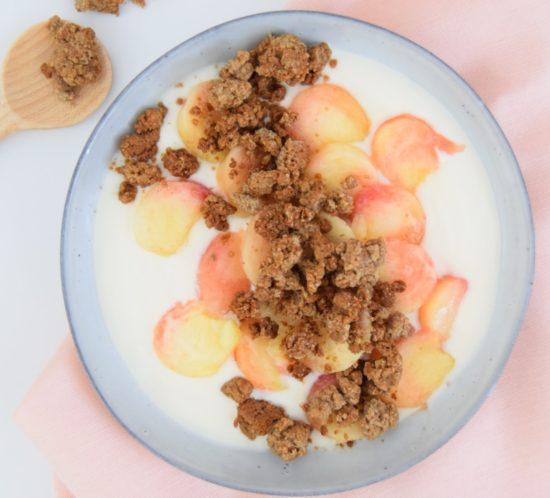 glutenvrije crumble met honing