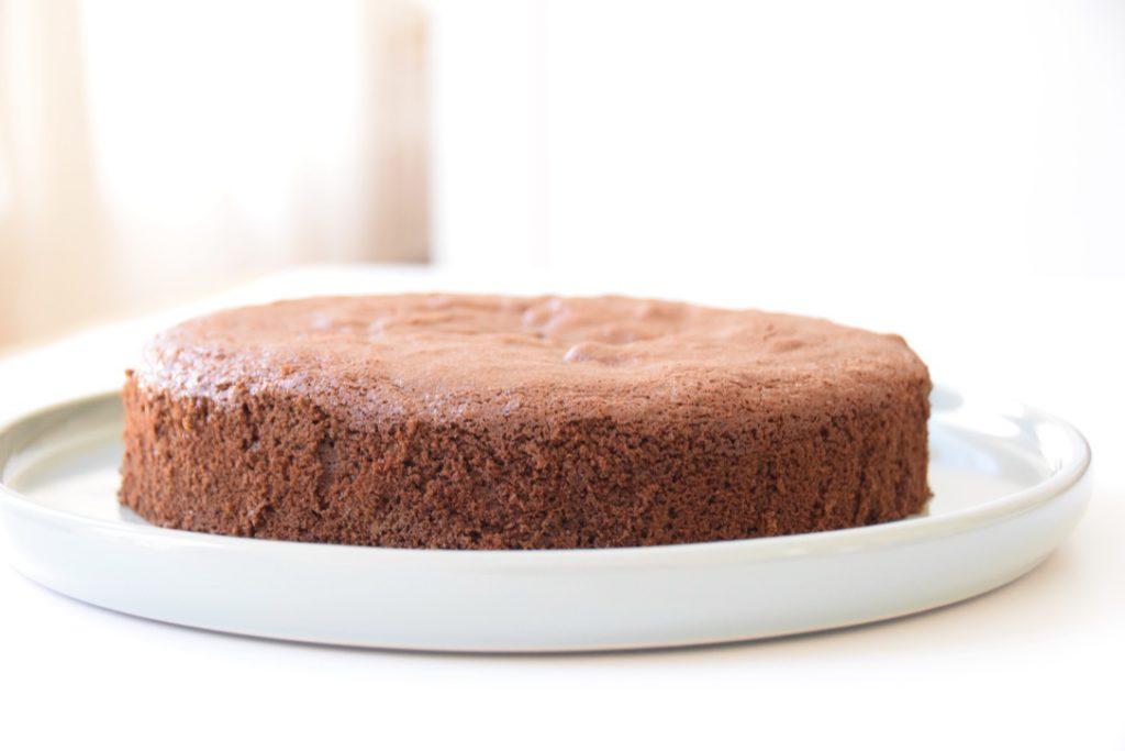 Glutenvrije chocolade biscuittaart met frambozen