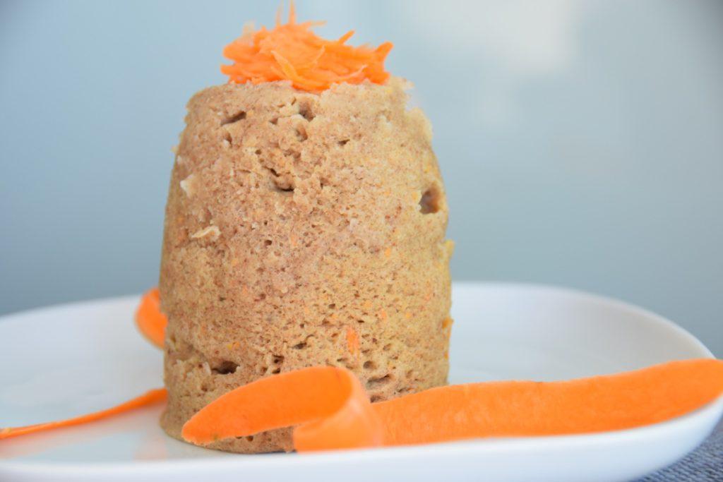 Glutenvrije mug cake met wortel