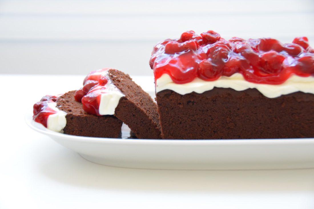 Glutenvrije en lactosevrije chocoladecake